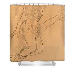 Mademoiselle La La At The Circus Fernando Shower Curtain by Edgar Degas