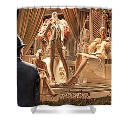 Madison Ave Meets Rodeo Drive Shower Curtain by Chuck Staley