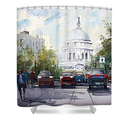 Madison - Capitol Shower Curtain by Ryan Radke