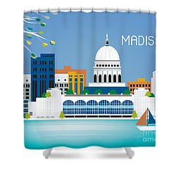 Madison Shower Curtain by Karen Young