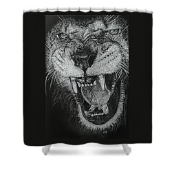 Madness Shower Curtain by Barbara Keith