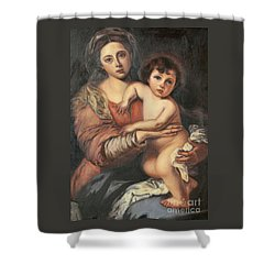 Madona And Child Shower Curtain by Mukta Gupta