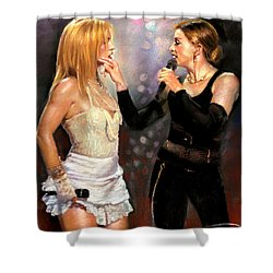 Madonna And Britney Spears  Shower Curtain
