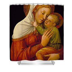 Madonna And Child Shower Curtain by Jacob Bellini