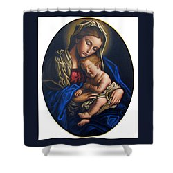 Madonna And Child Shower Curtain by Jane Whiting Chrzanoska