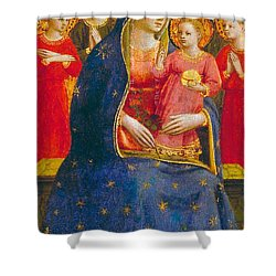 Madonna And Child With Angels Shower Curtain by Fra Angelico