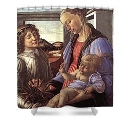 Madonna With Child Shower Curtain by Unknown