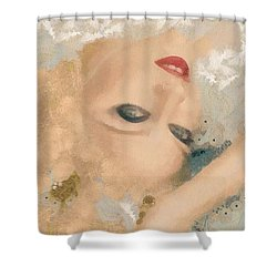 Madonna Wow Shower Curtain by Catherine Lott