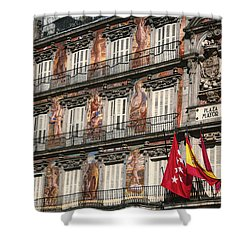 Madrid Murals Shower Curtain by Joan Carroll