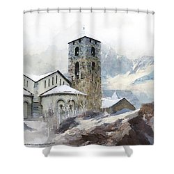 Madriu Perafita Claror Valley Shower Curtain by Catf