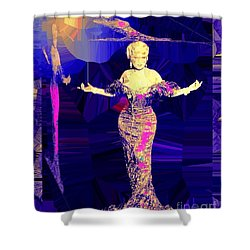Mae West. Ladies Embrace Your Curves Shower Curtain