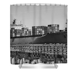 Maersk Shipping Line Shower Curtain