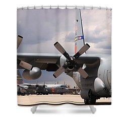 Maffs C-130s At Cheyenne Shower Curtain