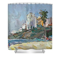 Magenta Day Shower Curtain