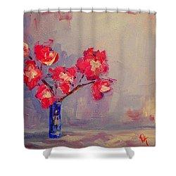 Magenta Flower Arrangement Shower Curtain by Patricia Awapara