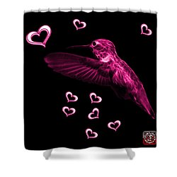 Shower Curtain featuring the digital art Magenta Hummingbird - 2055 F by James Ahn