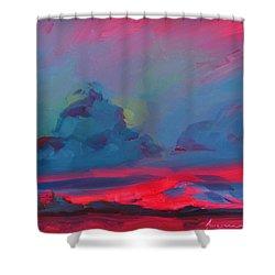 Magenta Landscape Shower Curtain by Patricia Awapara