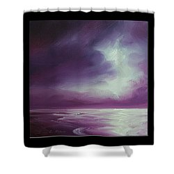Magenta Moon Iv Shower Curtain by James Christopher Hill