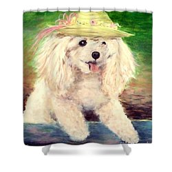 Maggie   Straw Hat Shower Curtain