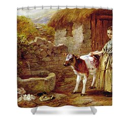 Maggie's Charge Shower Curtain by John H Dell