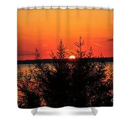 Magic At Sunset Shower Curtain by Ella Kaye Dickey