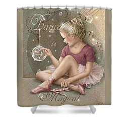 Magic Ballerina Shower Curtain by Beverly Levi-Parker