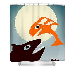 Magic Fish Shower Curtain by Anastasiya Malakhova