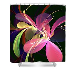 Magic Flower Shower Curtain by Anastasiya Malakhova