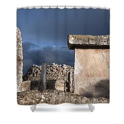 Bronze Edge In Minorca Called Talaiotic Age Unique At World - Magic Island 1 Shower Curtain by Pedro Cardona