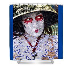 Magic Lady Goddess Shower Curtain by Keith Dillon