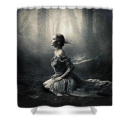 Magic Light Shower Curtain by Cindy Grundsten