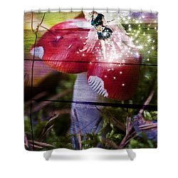 Magic Moshroom Fairy  Shower Curtain by Nathan Wright
