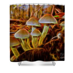 Magic Mushroom-3 Shower Curtain