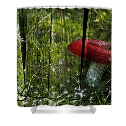 Magic Mushroom. Shower Curtain by Nathan Wright