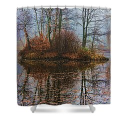 Magic Reflection Shower Curtain by Mariola Bitner
