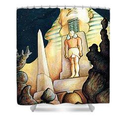 Magic Vegas Sphinx - Fantasy Art Painting Shower Curtain