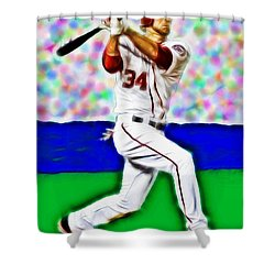 Magical Bryce Harper Connects Shower Curtain by Paul Van Scott