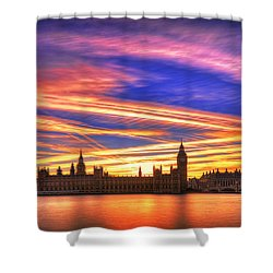 Magical London Shower Curtain by Midori Chan