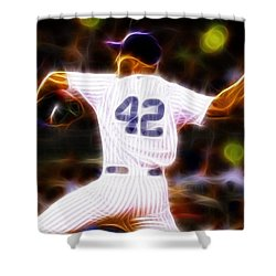 Magical Mariano Rivera Shower Curtain by Paul Van Scott