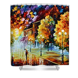 Magical Time Shower Curtain by Leonid Afremov
