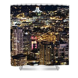 Shower Curtain featuring the photograph Magical Yaletown Harbor Mdxlix by Amyn Nasser