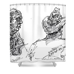 Magician And His Friend Shower Curtain