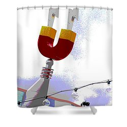Magnetic Shower Curtain by Valerie Reeves