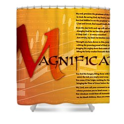 Magnificat Shower Curtain by Chuck Mountain