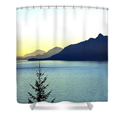 Magnificent Howe Sound Shower Curtain by Will Borden