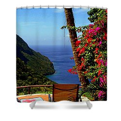 Magnificent Ladera Shower Curtain by Karen Wiles