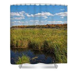Magnificent Minnesota Marshland Shower Curtain