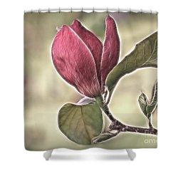 Magnolia Glow Shower Curtain