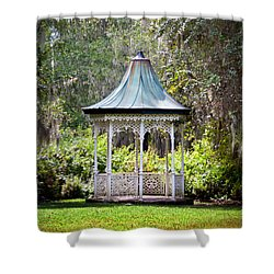 Shower Curtain featuring the photograph Magnolia Pavilion by Jean Haynes