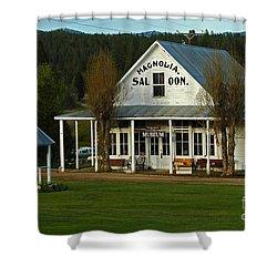Magnolia Saloon Shower Curtain by Sam Rosen